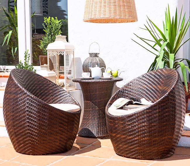 Homy juego de terraza 3 piezas bahia caf d as soleados for Juego terraza jumbo