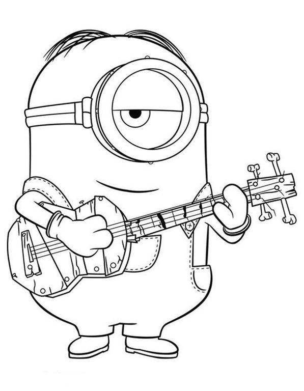 Pin By John Donch On Ukulele Imagery Minion Coloring Pages