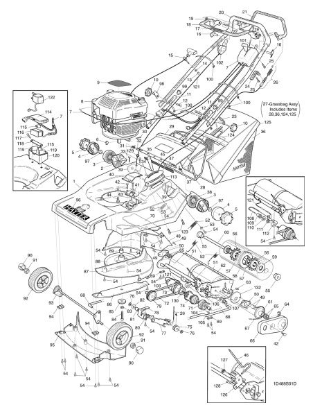 Hayter Harrier 48 488T001001 SPARES ORDERING DIAGRAMS