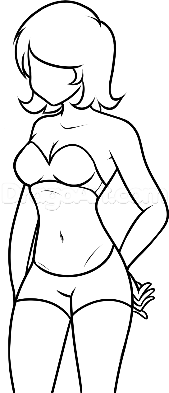 How To Draw A Body For Beginners Step By Step Figures People Free Online Drawing Tutorial Added By Dawn April 11 Human Drawing Easy Drawings Beginner Art