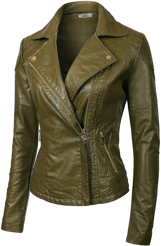 Brown Waxed Brando Designer Italian Leather Jacket at