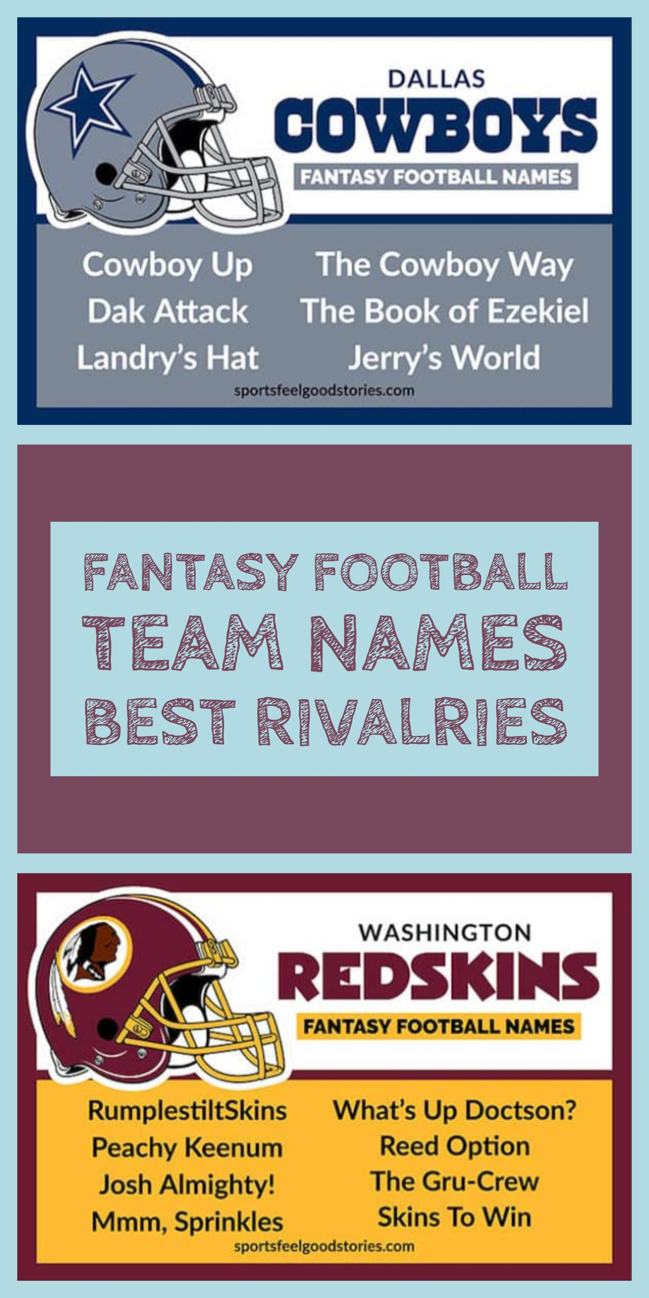 Best Fantasy Football Names Sorted By Team Sports Feel Good Stories Football Team Names Fantasy Football Names Cool Fantasy Football Names