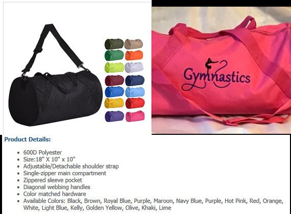 fe91b022d2fc Personalized Gymnastics Duffel Bag - Gymnastics Duffle Bag