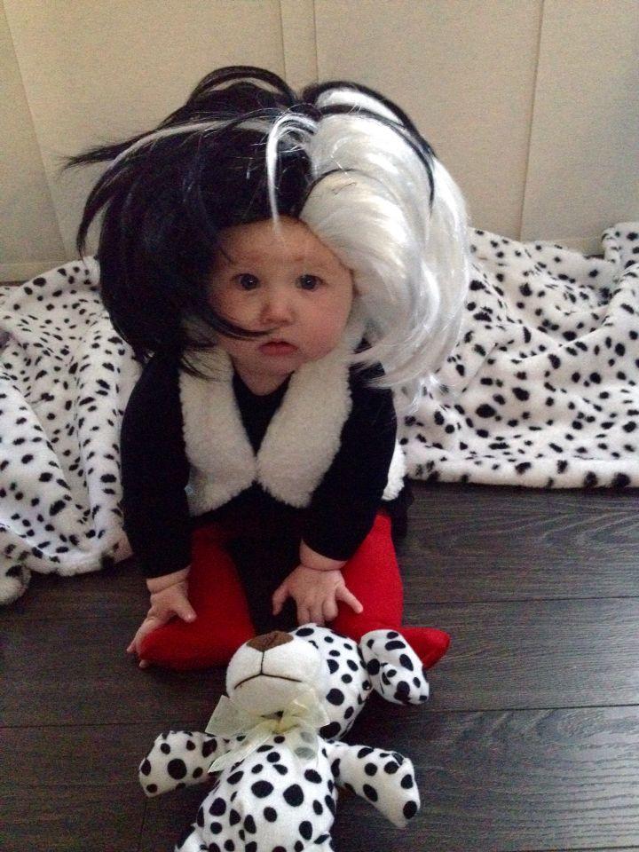 baby costume idea cruella deville so cute - Cruella Deville Halloween Costume Ideas