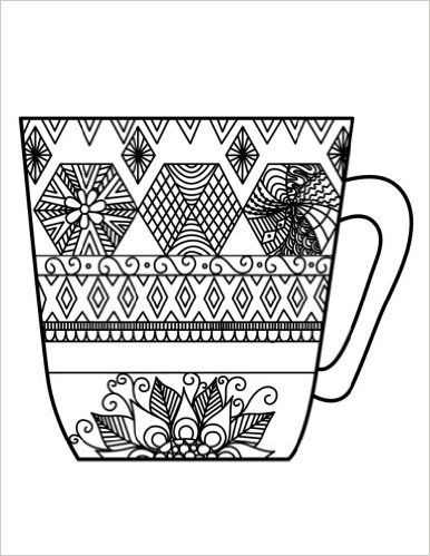 Blank Book Journal Cup Zentangle Cover Diary Notebook Color The Cover Color The Cover Journals 97815377819 Blank Book Book Journal Bullet Journal Doodles