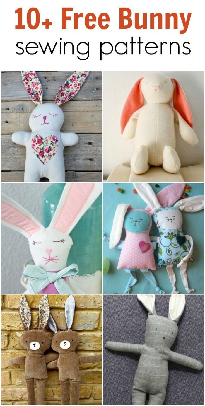 Stuffed Bunny Pattern : stuffed, bunny, pattern, Anikó, Barsiné, Artist, Sewing, Projects, Kids,, Animal, Patterns,, Beginner