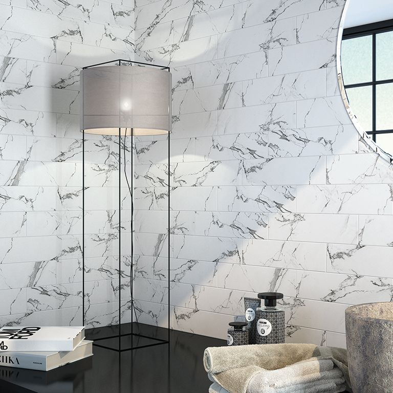 Satin Finished Ceramic Wall Tiles Size 100 X 400 X 8mm Ceramic Wall Tiles Ceramic Tiles Wall Tiles