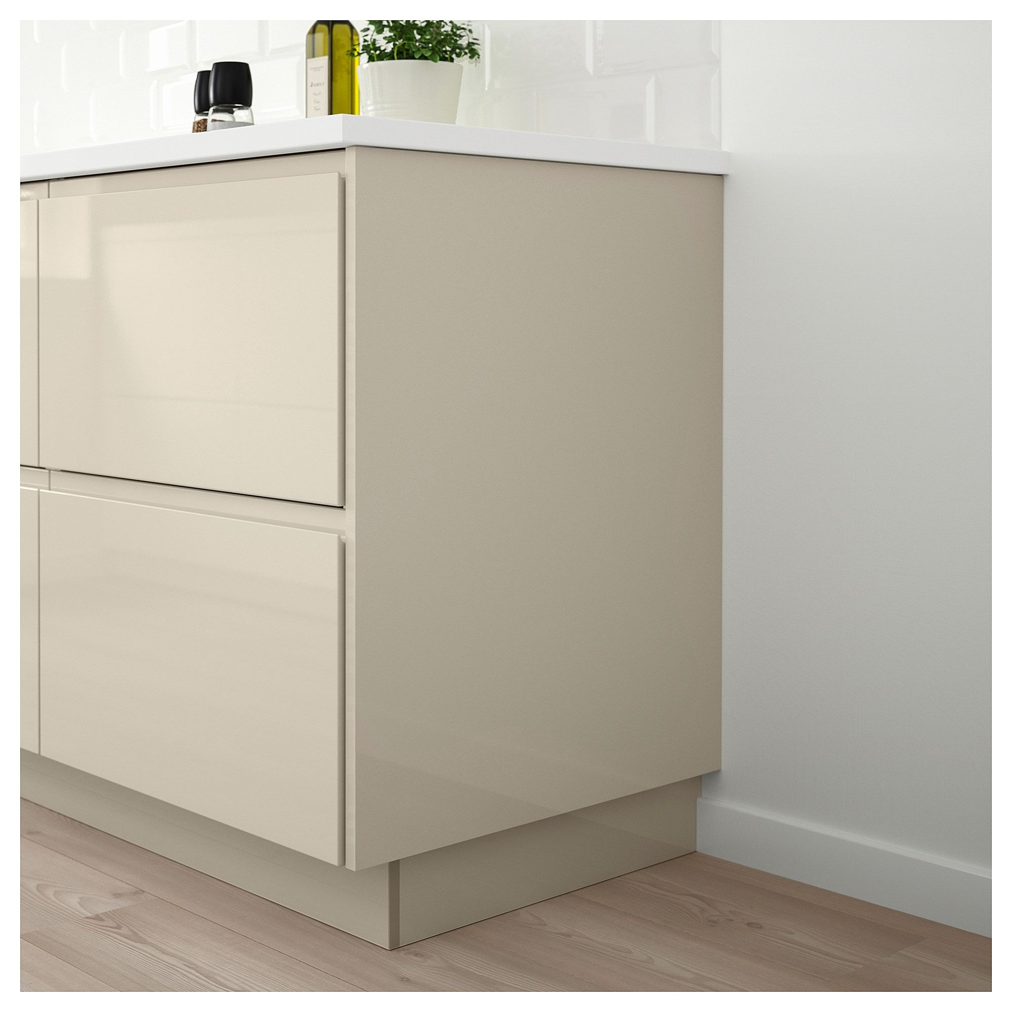 Cuisine Ikea Beige Voxtorp Cover Panel High Gloss Light Beige Products Light