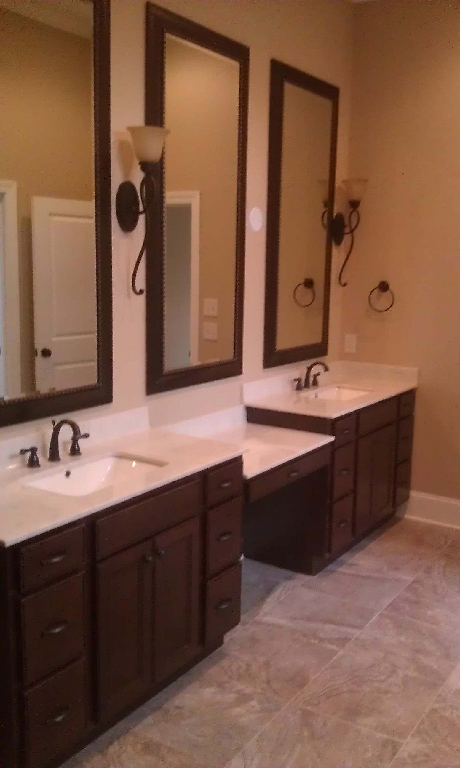 Master Bath Vanity Cabinet   Homecrest Cabinetry, Jordan Maple Door, Bison  Ebony Glaze Master