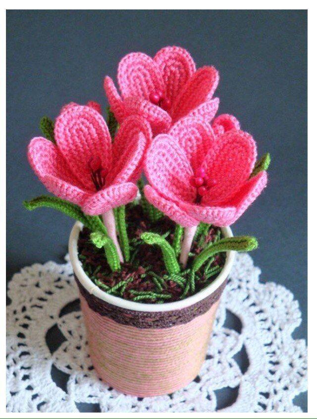 Как сделать цветы вязанные крючком (Мастер класс)  942741c959aea