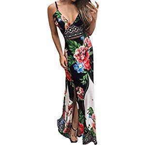Boho Beach Dress Abito lungo da donna Elegante abito lungo formale – Vino …