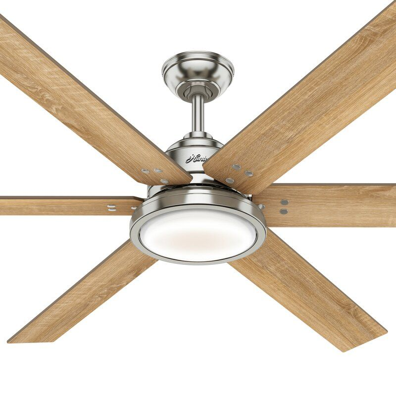 70 Warrant 6 Blade Led Ceiling Fan With Light Kit Included In