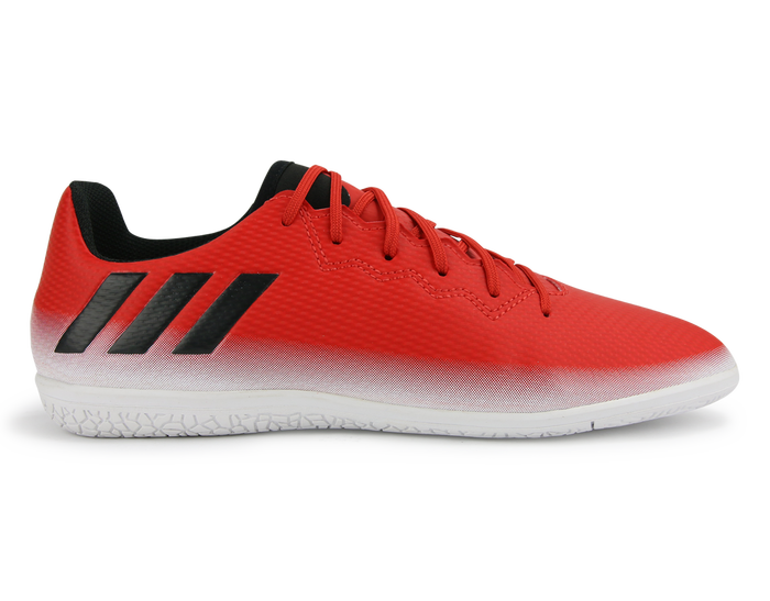 Adidas Kids Messi 16 3 Indoor Soccer Shoes Red Core Black White Soccer Shoes Messi Boots Adidas Kids