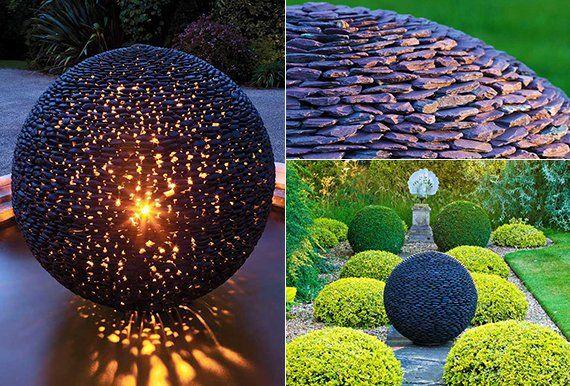 Gartendeko selbst basteln  Gartendeko selber machen: DIY Gartenkugeln | Pinterest ...