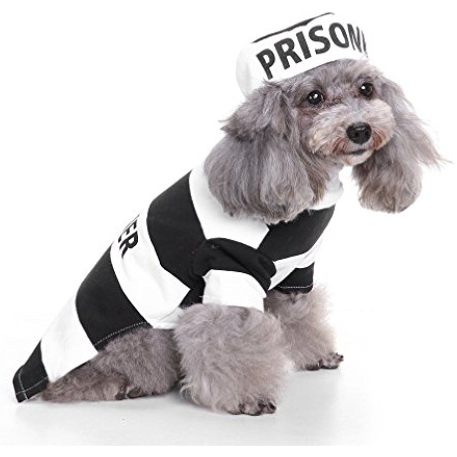 Ranphy Pooch Prisoner Dog Pet Halloween Costume Stripes Shirt Puppy Outfit Chihuahua Dog Costumes Halloween Small Pet Halloween Costumes Christmas Pet Clothes