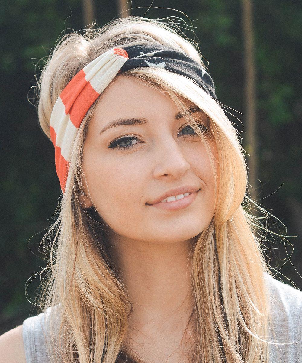 USA Headband 12 x Wholesale Bulk American Flag Headband American Flag Turban