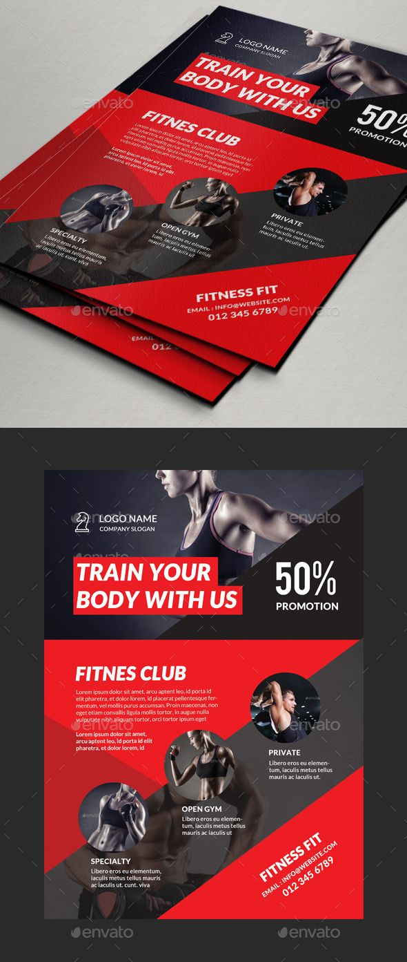 fitness gym flyer template psd basketball facts pinterest 広告