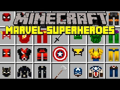 Minecraft MARVEL SUPERHEROES MOD! | BLACK PANTHER, HULK ...
