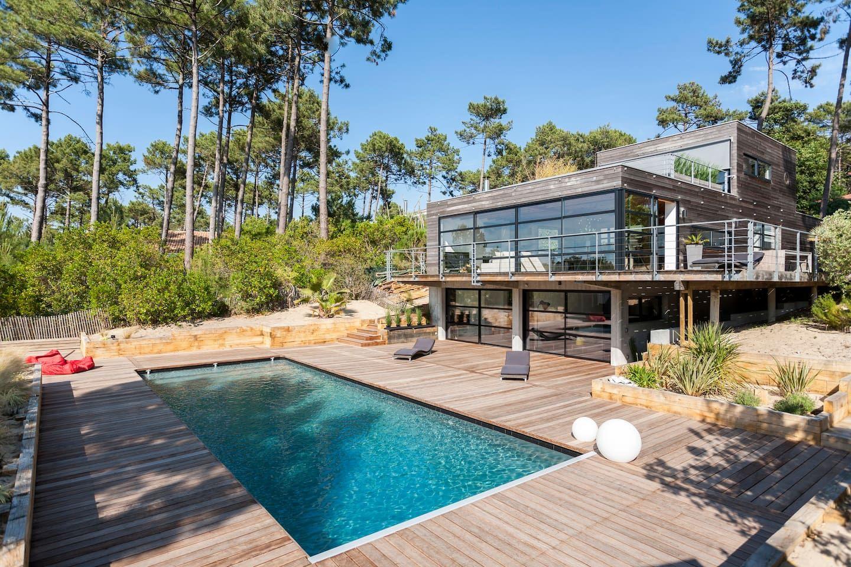charmant Villa au Cap Ferret avec piscine - Villas à louer à Lège-Cap-Ferret,  Aquitaine, France