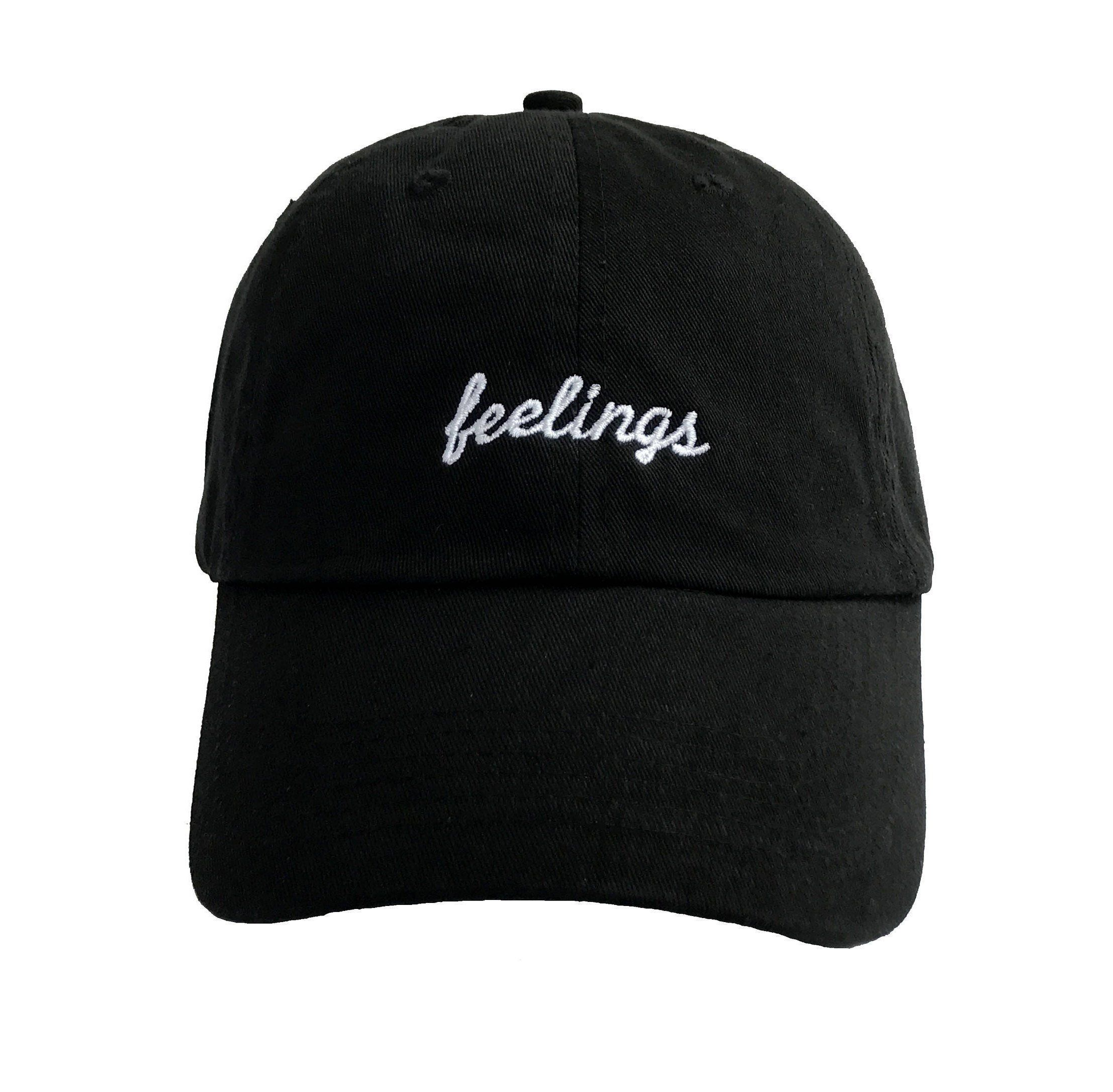 357fa3633 Feelings Dad Hat, Custom Dad Hats, Embroidered Baseball Cap, Unisex Low  Profile Adjustable
