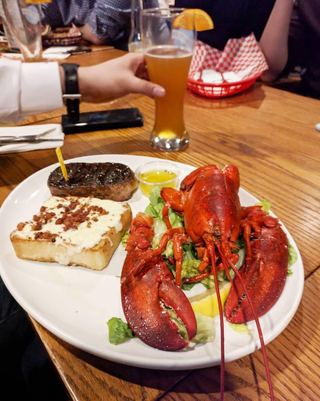 Steak and lobster proper Nova Scotia dinner ...