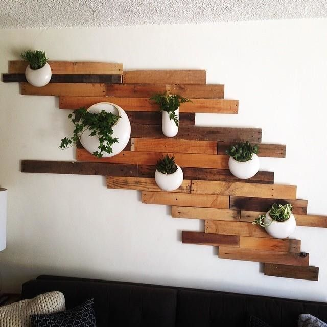 Image Gallery West Elm Blumen Ampel Wooden Planks On Wall Wood