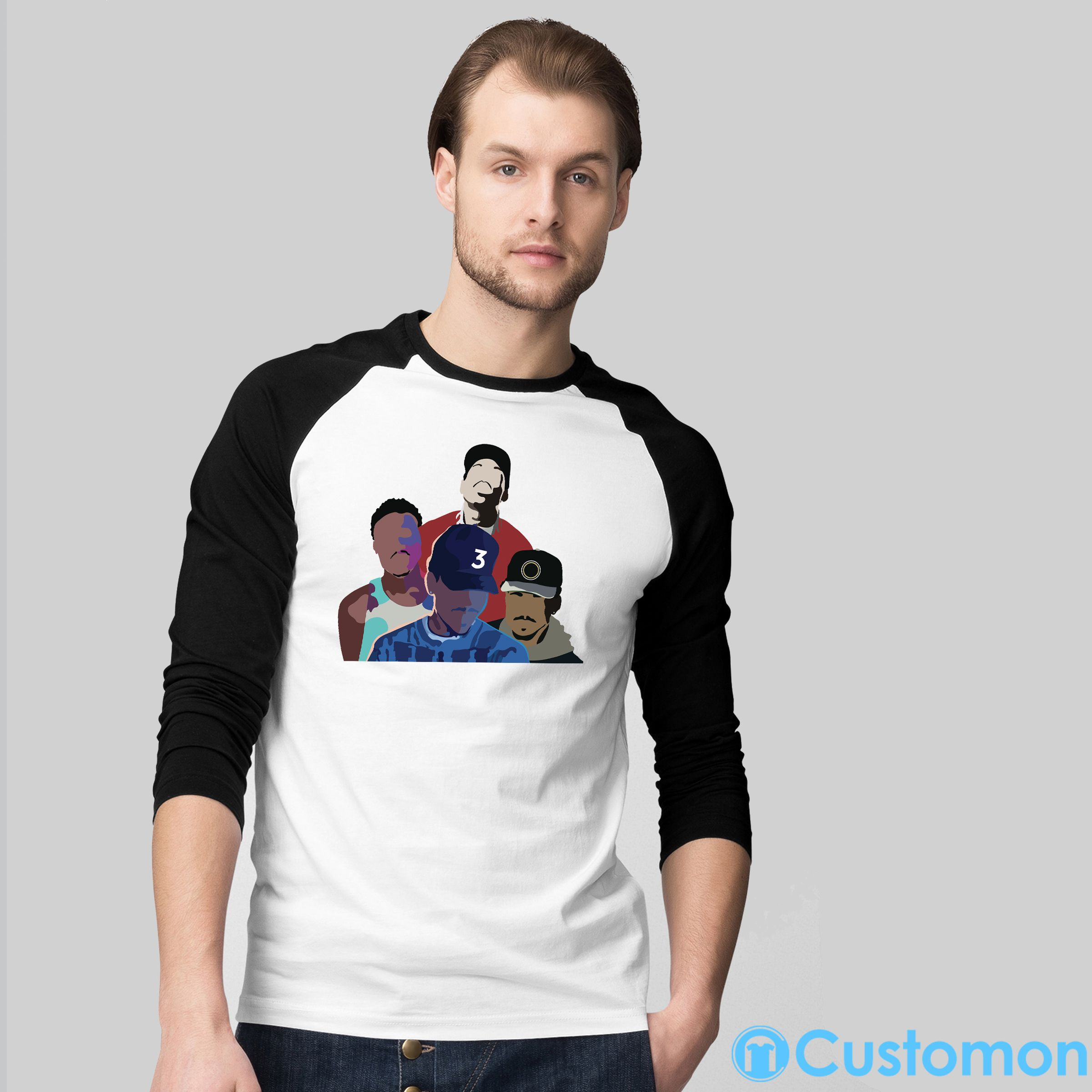 fd5e0e84 Chance the rapper Baseball T-shirt | New Year's Eve Gift Ideas ...