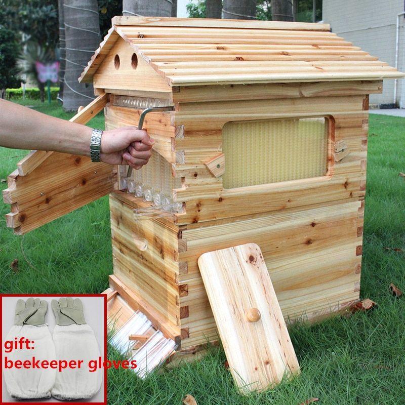 US Beekeeping Cedarwood Super Brood Box Wooden Box FOR Honey Bee Hive Frames