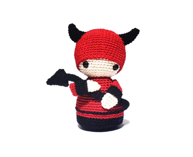DEVIL Crochet Pattern, Kokeshi Doll | Amigurumis patrones gratis en ...