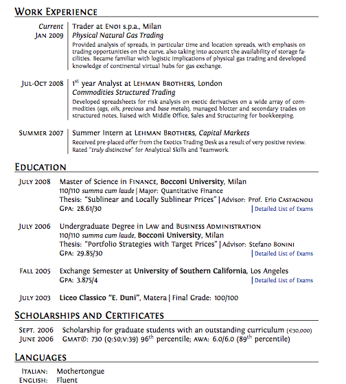good cv layout what makes a good cv stand out monstercouk good cv design example