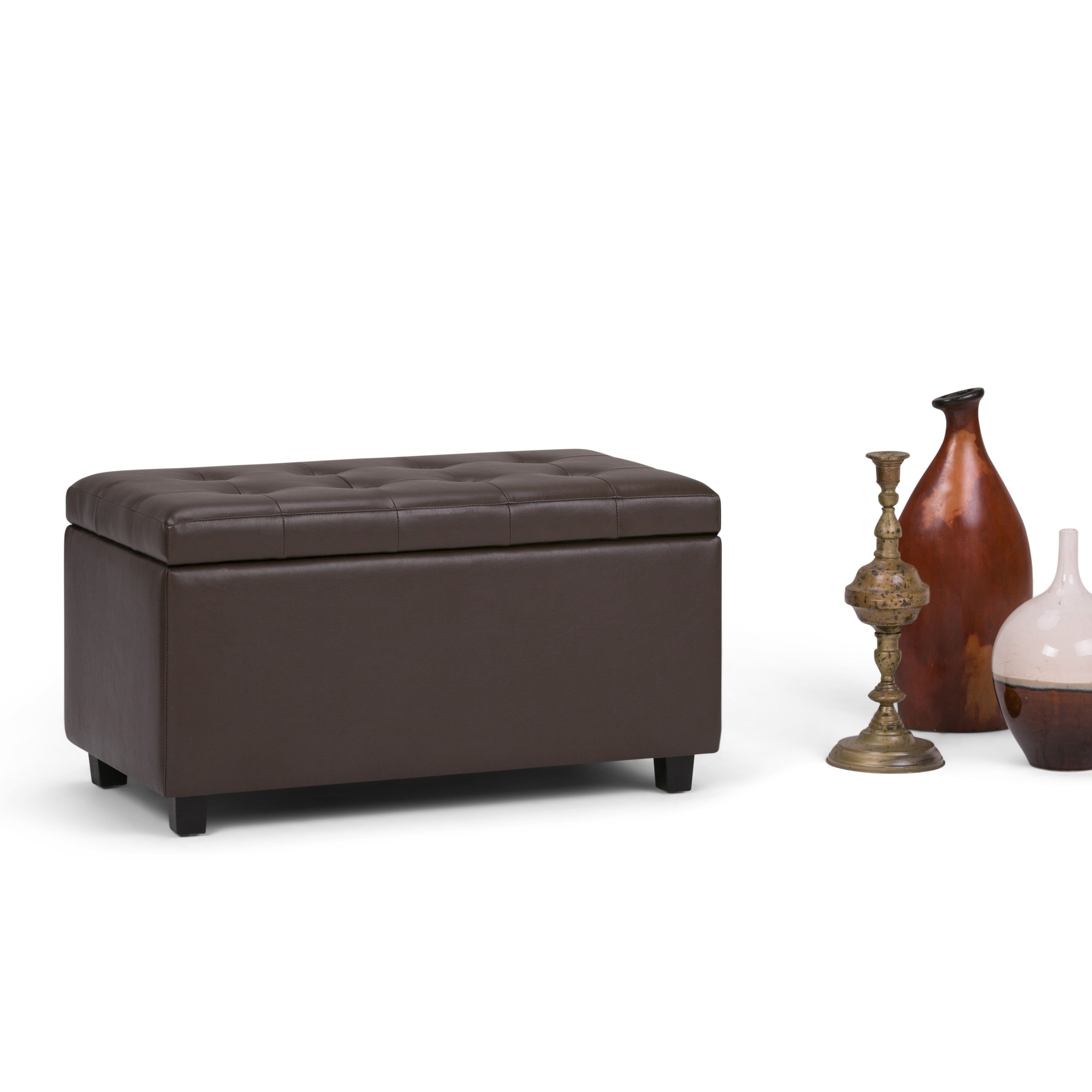 shipping fancy bench upholstered room the tufted today living of superior shoe storage ottoman luxury display free inch
