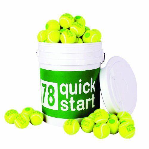 Quick Start 78 Court Stage 1 Youth Tennis Ball Bucket 72 Balls Yellow Green By Oncourt Offcourt 83 00 Quick Start 78 Ball Racquet Sports Slow Down
