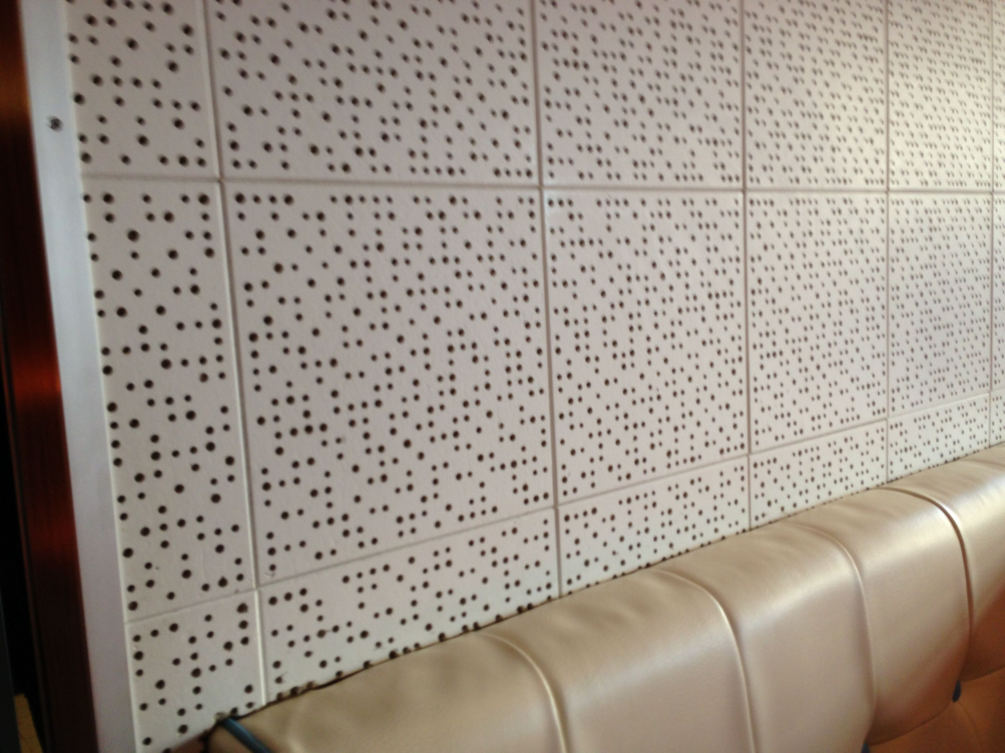 Acousticceiling tiles at Cafeteria Acousticceiling tiles at