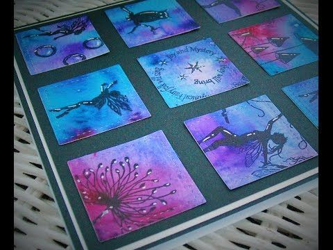 Super Easy Card using Lavinia Stamps and Color Bursts, Part 1 of 2 - YouTube
