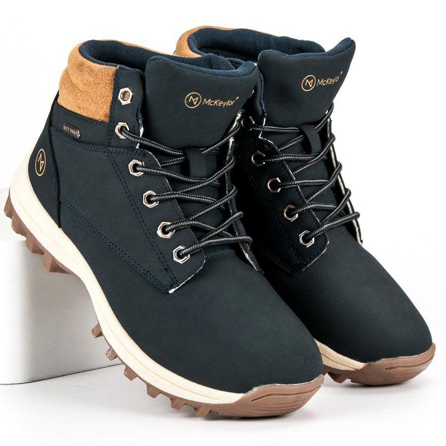 Trekkingowe Meskie Mckeylor Niebieskie Zimowe Buty Mckeylor Boots Timberland Boots Shoes