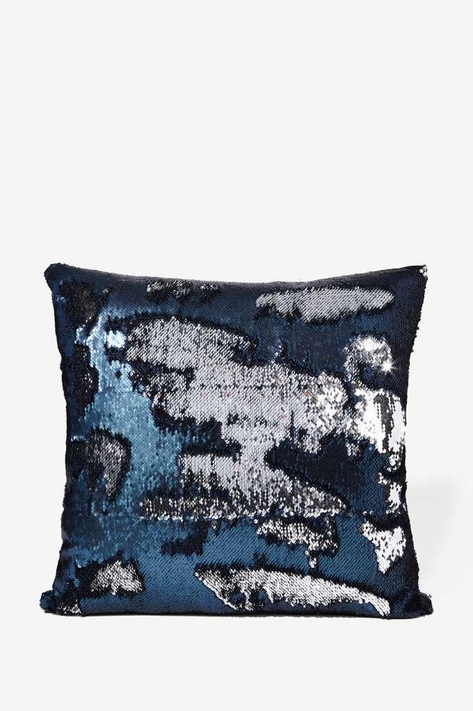 aviva stanoff solana mermaid sequin pillow all things glitter