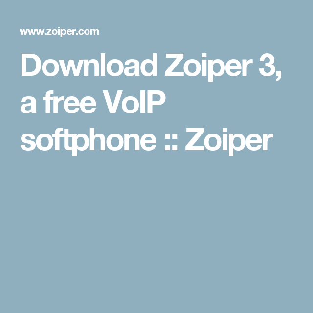 Download Zoiper 3, a free VoIP softphone :: Zoiper | House