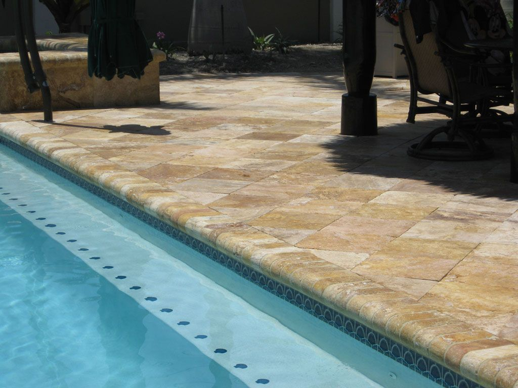 Pool travertine tile layout decor probably great design alternative ...