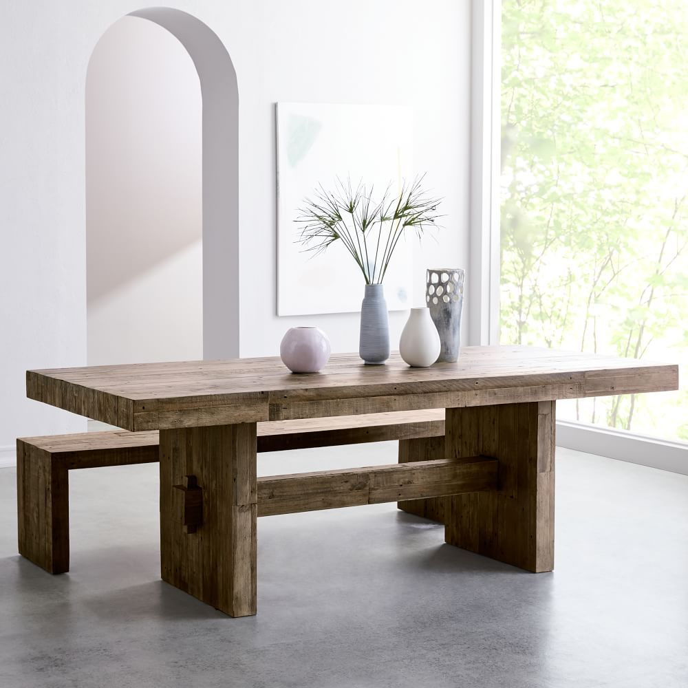 Emmerson 174 Reclaimed Wood Dining Table Reclaimed Pine Wood