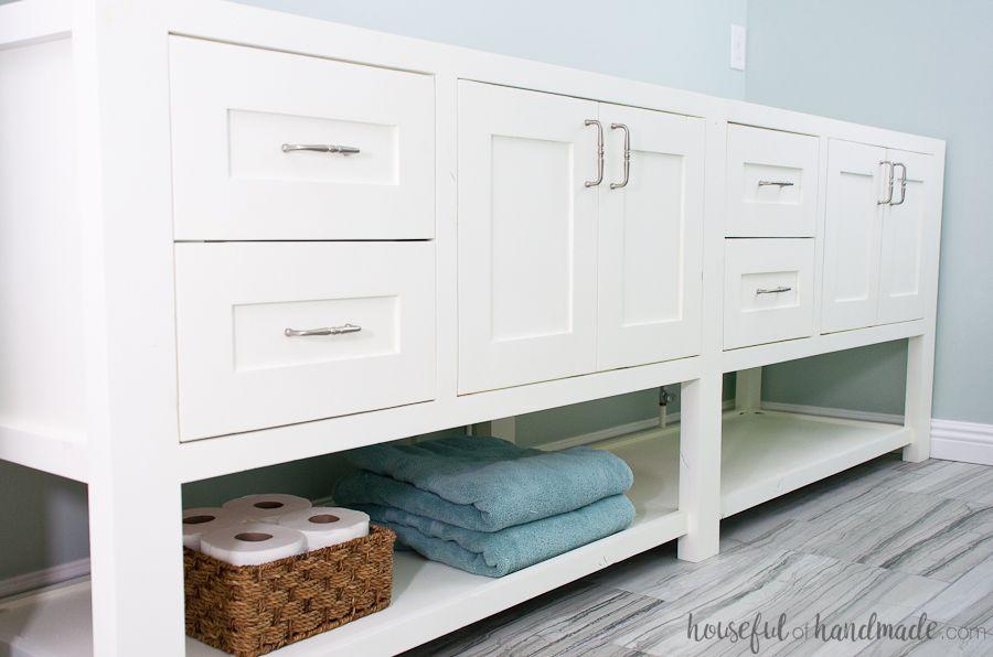 Mission Style Open Shelf Bathroom Vanity Build Plans Favorite