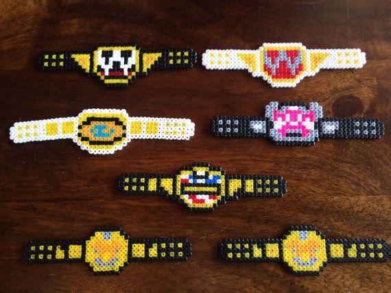 Wwe Wrestling Title Belts Pixel Art Mini Bead Magnets