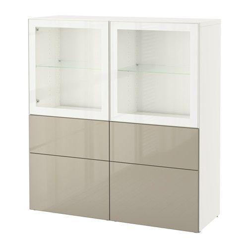 BESTÅ Vitrine IKEA Schubladen und Türen schließen langsam und - ikea küchen türen