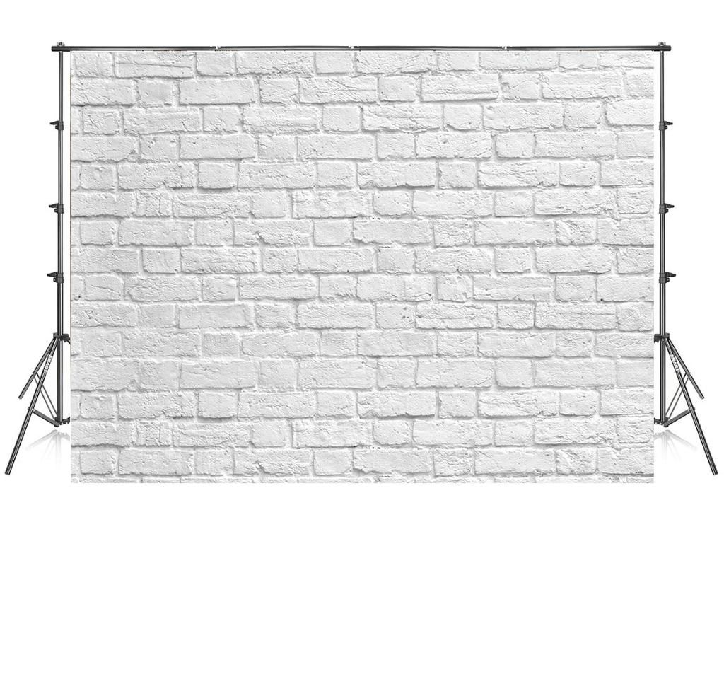 8x8 Ft Seamless White Brick Wall Photo Backdrop For Photoshoot Photo Background Brick Wall Backdrop White Brick Walls White Brick
