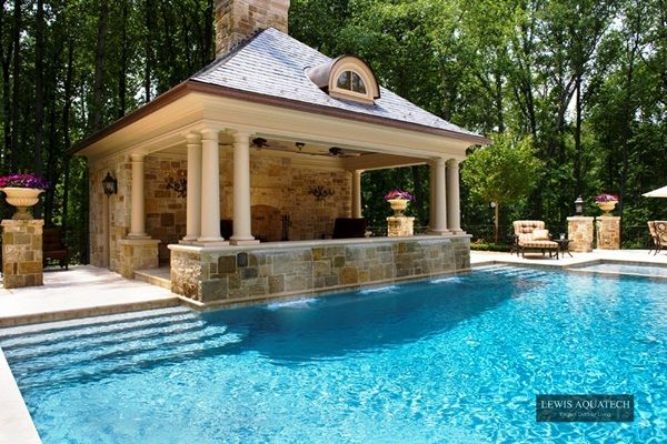 making a good pool great hardscaping ideas from lewis aquatech - Hardscape Design Ideas