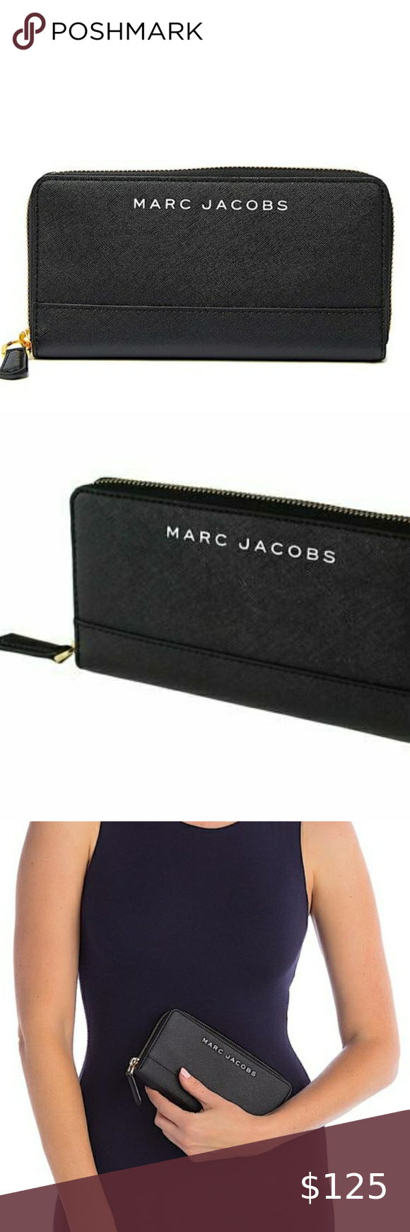 Marc Jacob S Branded Saffiano Continental Wallet Marc Jacobs Logo Marc Jacobs Marc Jacobs Bag