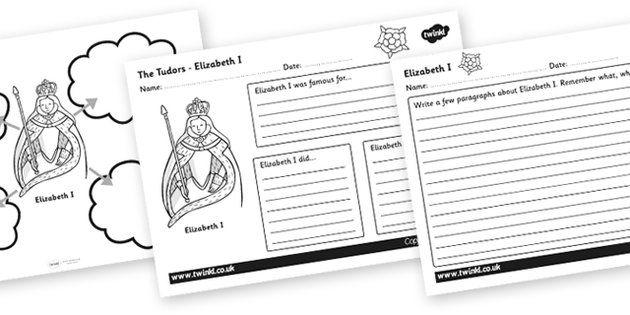 Tudors Elizabeth I Mind Maps And Worksheets Elizabeth I The