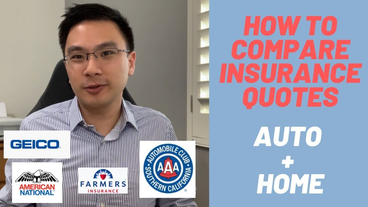 How To Compare Auto And Home Insurance Quotes Check More At Http