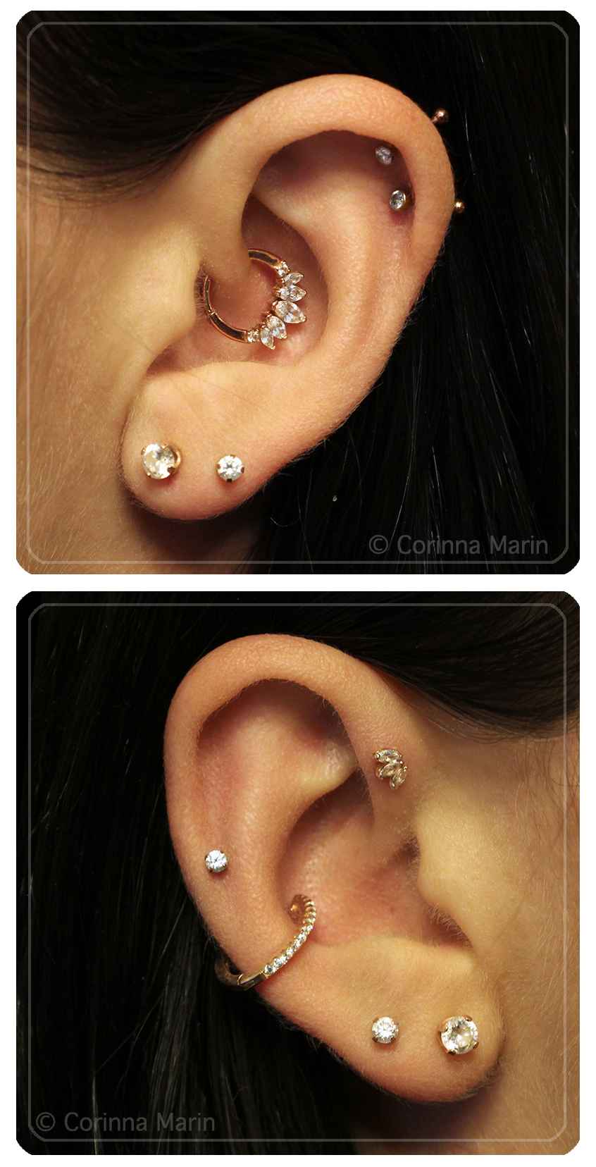 Daith Lobe Conch Helix High Lobe Forward Helix Piercing