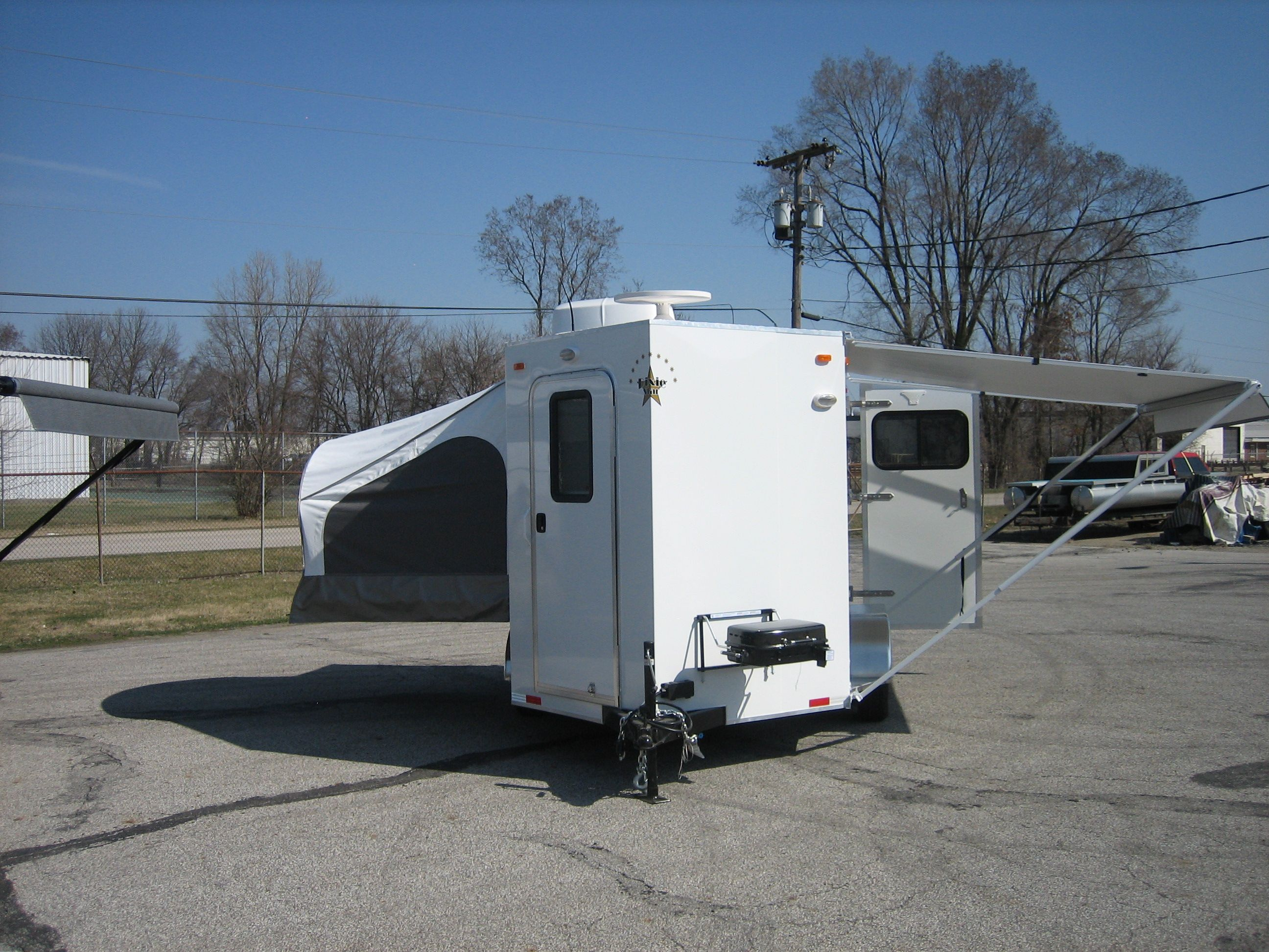 living awnings your best bumper quarters trail montana pull mthorsetrailers dixie star awning horse rider trailer through trailers order