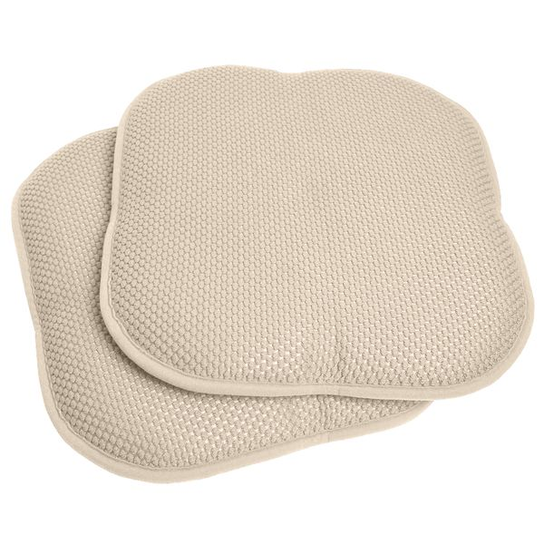16x16 Memory Foam Chair Pad Seat Cushion With Non Slip Backing 2 Or